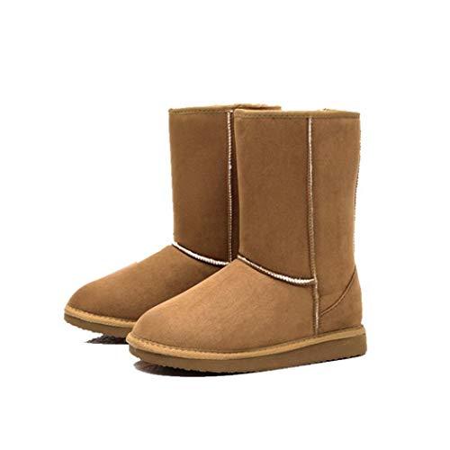 Tiowea Dames normale lak houden warme vlakke hiel kortsluiting sneeuw opladen bootschoenen 40 EU koffie