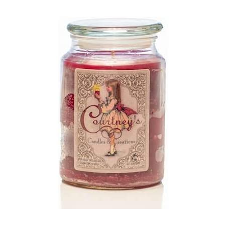 Amazon Com Courtney S Candles Mulberry Maximum Scented 26oz Large Jar Candle Home Kitchen