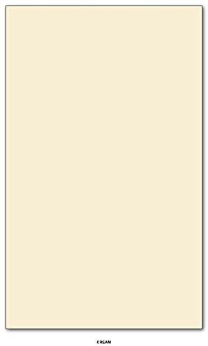 Superfine Printing Inc. Color de papel de 20 libras Tamaño 85 X 14 Legal/Menú Tamaño 50 por paquete (color crema)