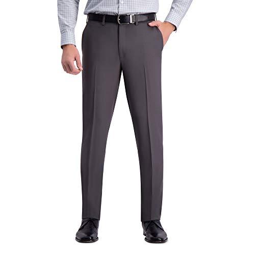 Haggar Men's Premium Comfort Stretch Slim Fit Dress Pant, dark grey, 36Wx32L