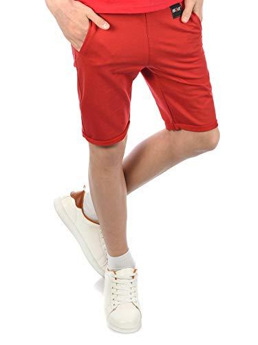 BEZLIT Jungen Kinder Shorts Kurze-Hose Bermuda Capri Sommer Jungs Strech 30046 Rot 140/146