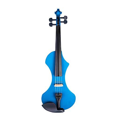 Violín eléctrico 4/4 Violín de madera maciza Silent Active Pickup 6 colores...