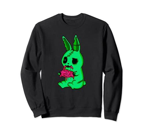 Disfraz de conejito de zombie, regalo de conejo muer Sudadera