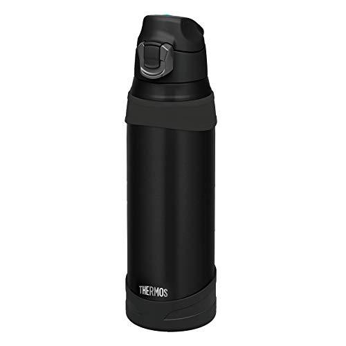 THERMOS 4038.232.100 Isolier-Trinkflasche Ultralight, Edelstahl Mat Black 1,0 l, extrem leicht, nur 370 g, 12 Stunden kalt