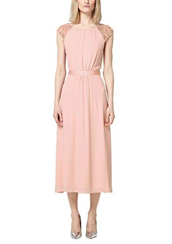 s.Oliver BLACK LABEL Damen Rückenfreies Kleid mit Embroidery Hello Peach 40