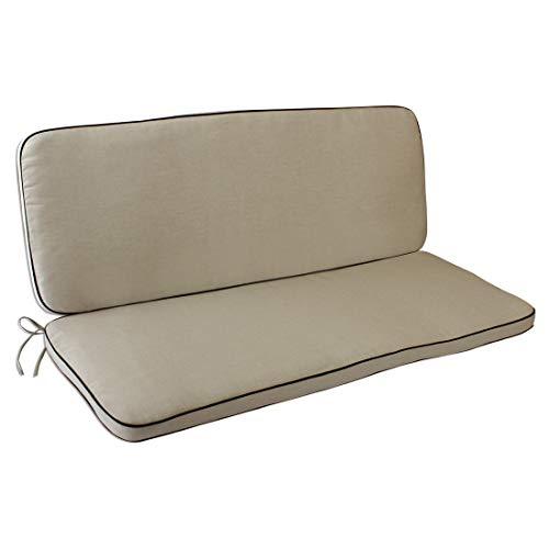OUTLIV. Polsterauflage Romeo Elegance 2-Sitzer Bank Auflage 109x38/42 cm Sitz- Rückenkissen Natur Sitzauflage für Gartenbank und Sitzbank