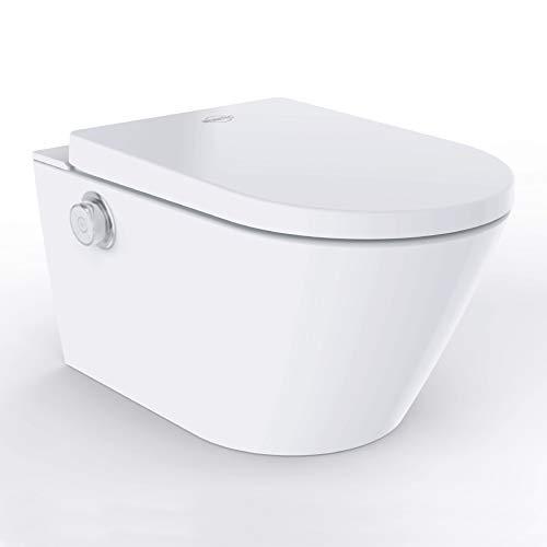 MEWATEC Marken Dusch-WC Komplettanlage EasyUp Basic wandhängend, integriertes Bidet, Komplettmodell, Preis-Leistungs-Sieger