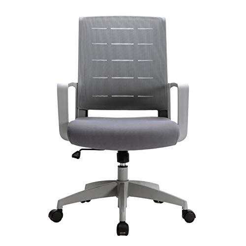 Silla giratoria Silla ergonómica de escritorio para computadora, silla de oficina Función mecedora Giratoria de altura ajustable, con ruedas silenciosas para oficina en casa Sala de estudio de confe
