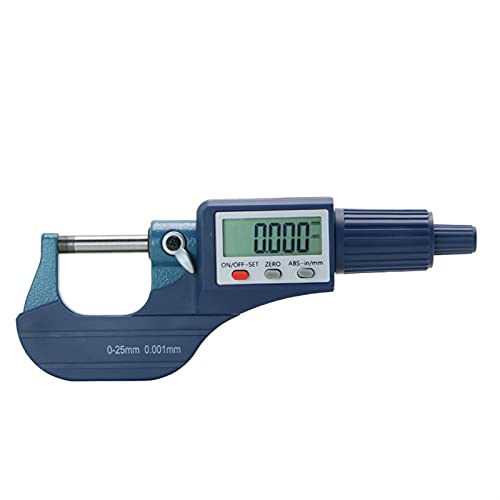 YUNJINGCHENMAN Micrómetros Micrómetro Exterior de 0.001 mm 0-25 mm con Extra Grande LCD Micrómetro Digital de Pantalla Digital Electronic Digital Calibrador (Specification : 0-25mm)