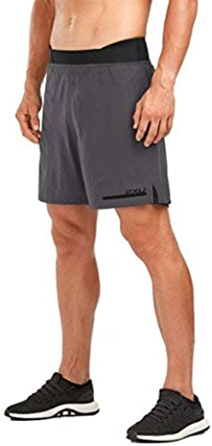 2XU courir 2 in 1 Compression courtes 7  Hommes, Charcoal noir