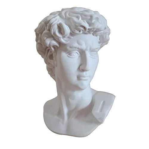 GAOXUQIANG David Head Portraits Busto Mini Estatua de Yeso Michelangelo Buonarroti Decoración del hogar Resina Arte y artesanía Práctica de bocetos