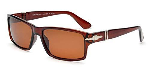 Lovelegis Gafas de sol rectangulares para hombre - james bond - niño - polarizado - clásico - montura marrón - lente marrón