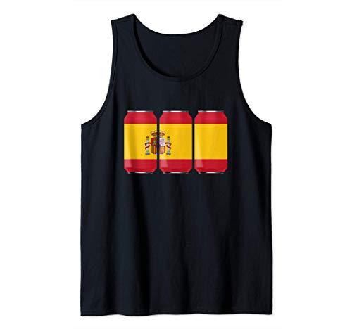 Latas de cerveza patrióticas frescas España España Camiseta sin Mangas