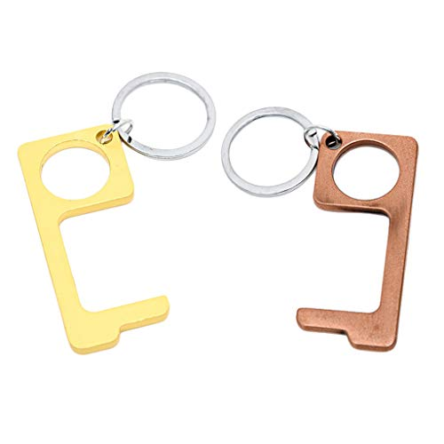 Milageto 2 Stück No Touch Open Door Außentaste Push Stick Gadget Anti Bakterien