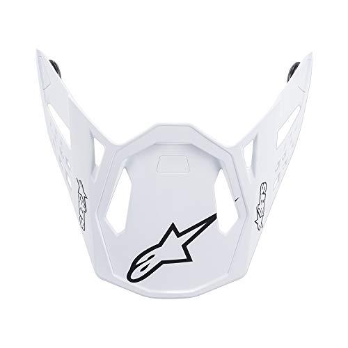 Alpinestars Unisex-Erwachsene M10 Dyno Helmvisier, Schwarz/Carbon-Weiß (Mehrfarbig, Einheitsgröße