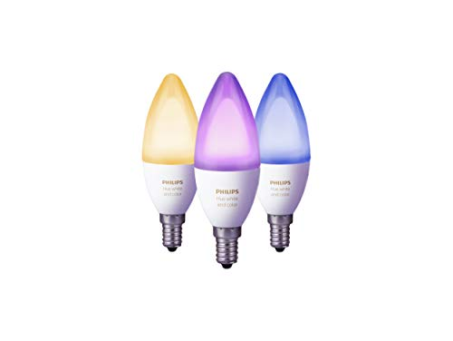 Philips Hue White and Color Ambiance Lampadine LED, Attacco E14,...