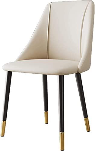 Sillas - silla de comedor, con asiento acolchado y patas de metal, lujosas sillas de recepción de sala de estar para cocina,...