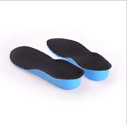 HJQL Inserciones Invisibles para Levantar El Talón, Elevadores para Zapatos, Almohadillas para Zapatos, Plantillas para Zapatos con Aumento De Altura, para Mujeres Y Hombres, Azul Negro