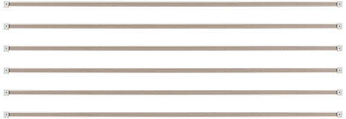 Best-Rite 1-Inch Map Rail, 6-Feet, Set of 6 (522G)
