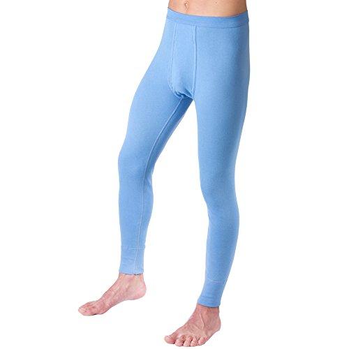 HERMKO 3540 Herren Lange Unterhosen mit Eingriff und Weichbund aus 100% Baumwolle in Feinripp, Farbe:hellblau, Größe:D 10 = EU 4XL