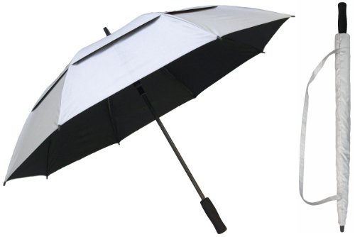 RainStoppers Women's 50-Inch Silver Coated Windbuster Golf Umbrella