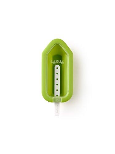 Lékué 3400232V10U150 Moule à Glace Iconique Silicone Vert 5,6 x 11,5 x 2,6 cm