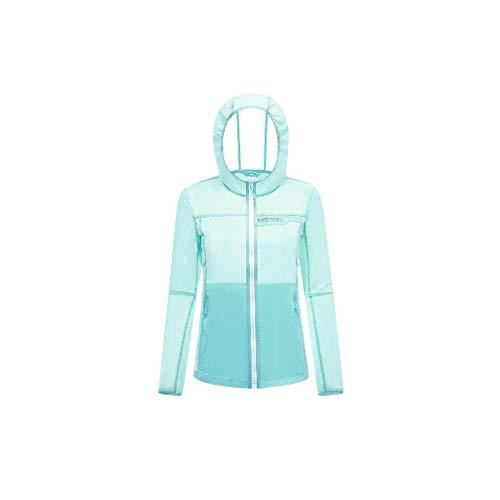 Chaqueta Deportiva Piel Protección Solar Ropa del Verano al Aire Libre Femenino Ropa de Deporte de sección Ligera Protección Solar Ropa Blusa Acogedor (Color : Green, Size : XXXL)