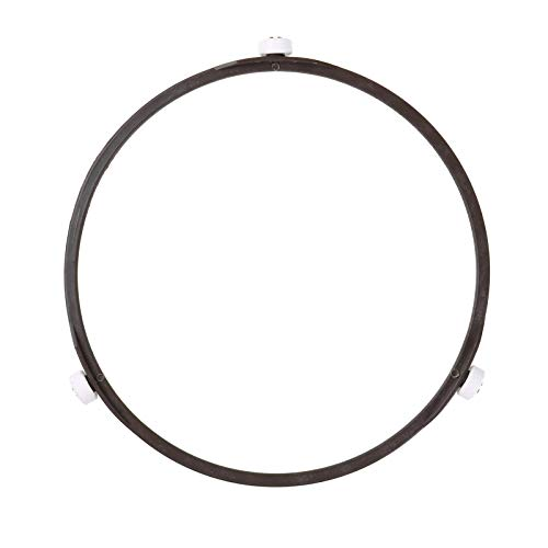 Freebily 1 Stück Universeller Mikrowellen-Drehteller Ring Kunststoff Mikrowellen-Ofen Drehrolle Stützring Mikrowellen-Glasplatte Tablett Rad Ring Braun Large