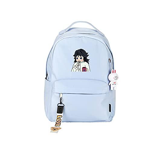 ZZGOO-LL Demon Slayer: Kimetsu no Yaiba Kamado Tanjirou/Nezuko Anime Laptop Backpack Bag Travel Laptop Daypacks Lightweight Bag