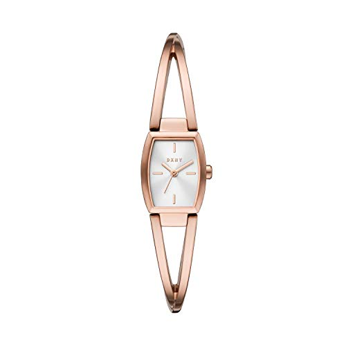 DKNY Women's Quartz Watch with Stainless Steel Strap, Rose Gold, 7 (Model: NY2937)