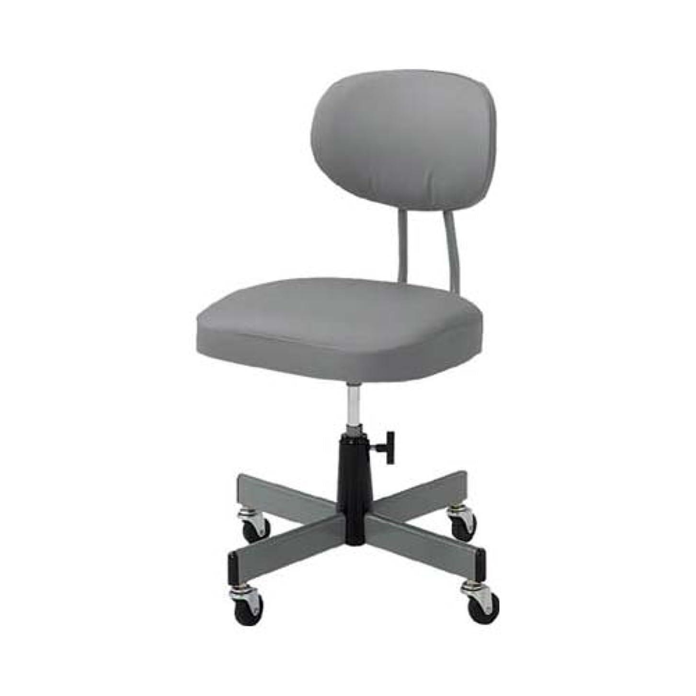 発表道徳合成TRUSCO(トラスコ) 事務椅子 ビニールレザー張り グレー T-80