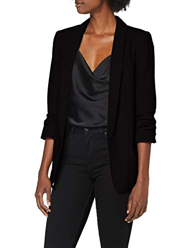 PIECES Damen PCBOSS 3/4 Blazer NOOS Anzugjacke, Schwarz (Black Black), 40 (Herstellergröße: L)
