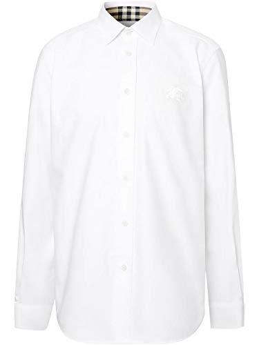BURBERRY Luxury Fashion Herren 8024523 Weiss Hemd |