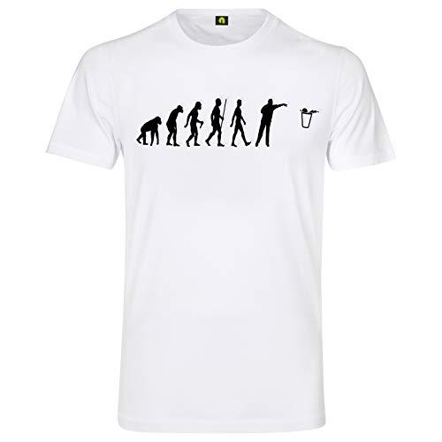 Evolution Bier Pong T-Shirt | Bierpong | Beer | Beerpong | Party | Alkohol Weiß L