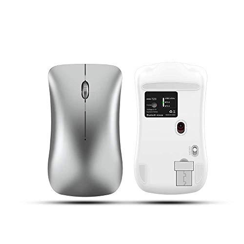 KAYBELE Teclado de ratón Bluetooth inalámbrico Bluetooth Mouse Dual Modo ABS Metal 2.4G Mouse inalámbrico Diseño silencioso Adecuado para Juegos de Oficina Mouse óptico ergonómico