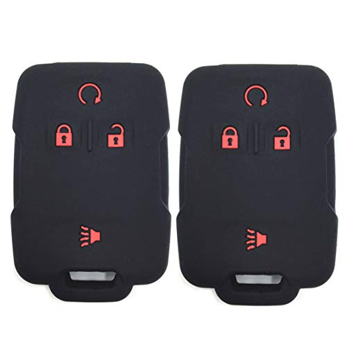 Silicone Rubber Key Fob Case Covers Keyless Remote Jacket Skin Protector for Silverado