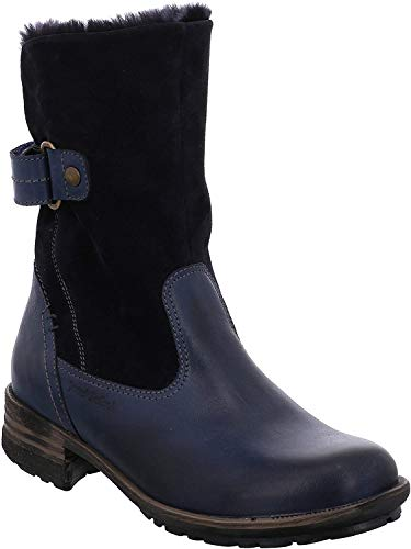 Josef Seibel Damen Winterstiefel Sandra 76,Frauen Winter-Boots,Fellboots,Fellstiefel,gefüttert,warm,Ocean,EU 41