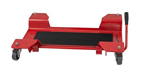 Cavalletto Sposta Moto Carrello Pedana Scooter Universale 4 Ruote Nylon Rosso