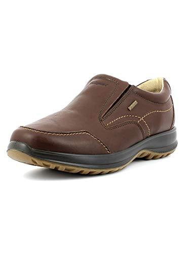 Grisport Leather Moc,Männer,Herren_Halbschuh,elegant, wasserdicht, bequem, hochwertiges Leder, Active-System, hoher, rutschfest,Braun, 42