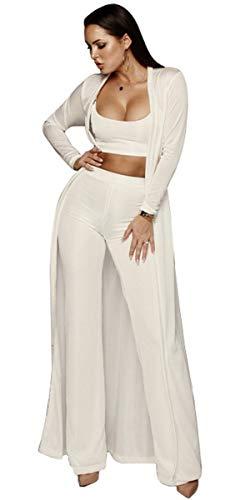 Dames 3-delige set crop top festival cardigan trendy broek mode elegante normale lak huispak lente herfst vrije tijd losse pak joggingpak
