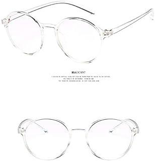 7808e3490d Yaoaomon Vintage 2387 Gafas Redondas con Montura de Gafas para Mujer Lady  Transparente Blanco