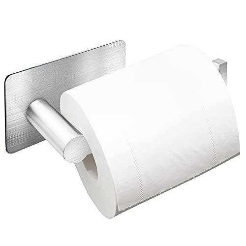 Auxmir Porte Papier Toilette Poli, Support Papier Rouleau sans Percage Derouleur Papier WC, Porte...