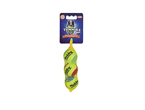 Nobby Tennisball mit Squeaker sortiert XS 4,0 cm; 3er Netz