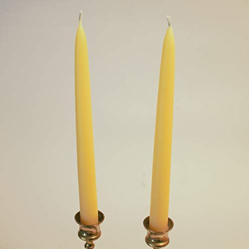 Traditional Dipped Organic Beeswax Candles – 8hr Burning time – Handmade in Wales