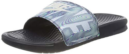 Nike Benassi JDI Print, Zapatos de Playa y Piscina Hombre, Multicolor (Obsidian/Summit White 406), 46 EU