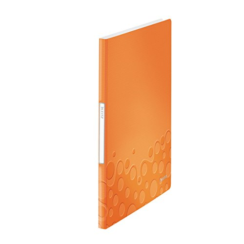 Leitz 46310044 Sichtbuch wow, A4, PP, 20 Hüllen, orange metallic