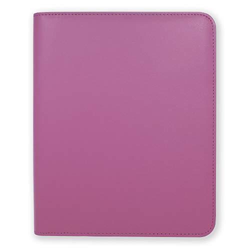 Funda Agenda A5 Essentials de Boxclever Press de cuero sintético con cierre de cremallera. Funda agenda 2021 2022 para agendas, cuadernos y planner 2021 2022 (Magenta)