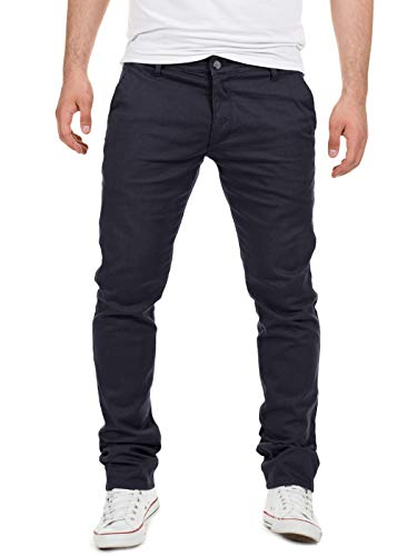 Yazubi Chino Hose Herren Blau - Dustin by Yzb Jeans - Blaues Business Stoff Chinohose für Männer Stretch Chinos, Blau (Night Sky 4R193924), W34/L34