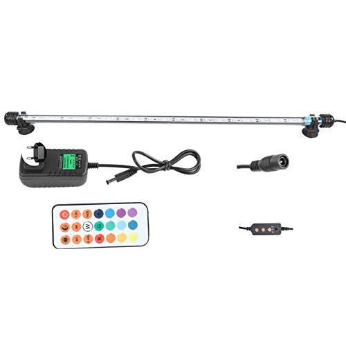 Ausla Luz RGB para acuario, 5,8 W, 30 ledes, iluminación LED para acuario, lámpara LED con mando a distancia de 24 teclas, 16 colores, IP68 resistente al agua (220 V)