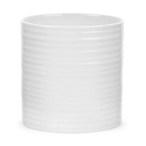 Portmeirion Home & Gifts Oval Utensil Jar, Porcelain, White, 11 x 14.2 x 14.3 cm